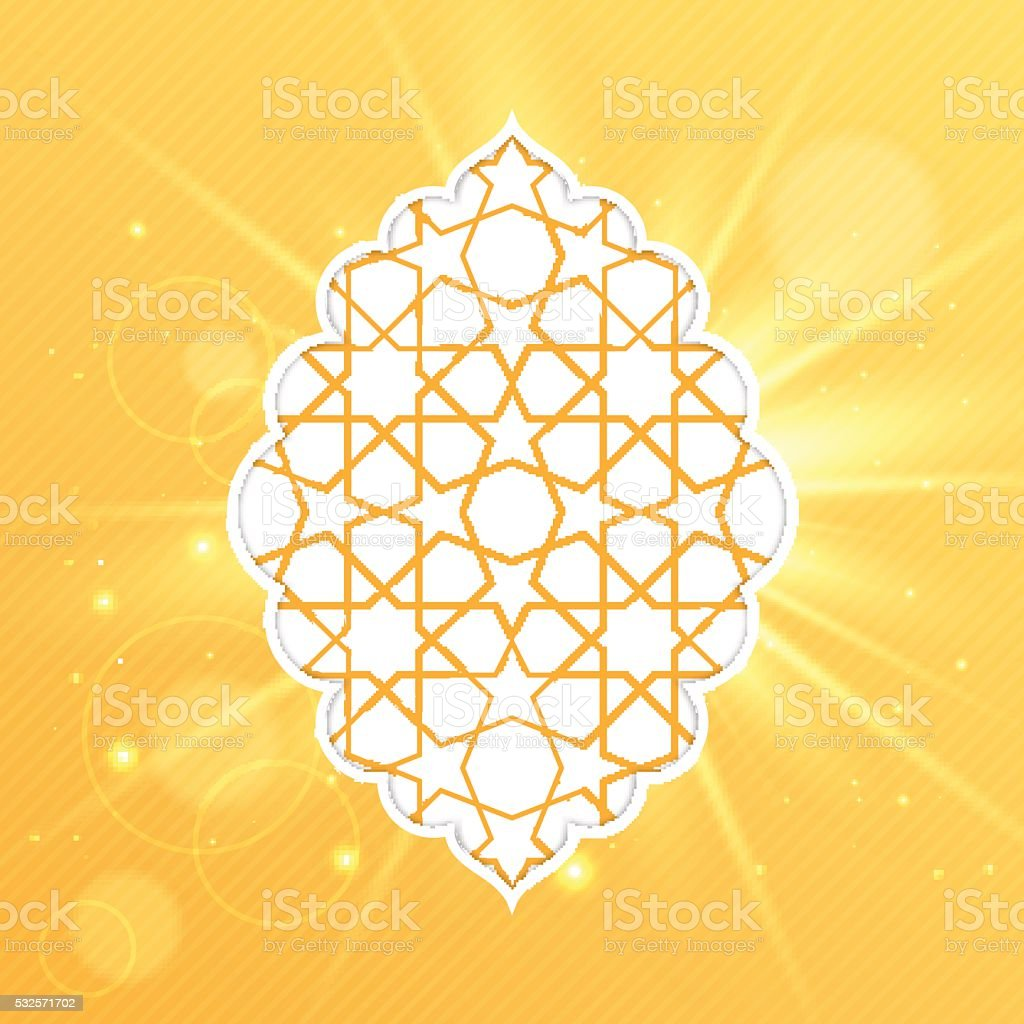 Eid Mubarak greeting card design vector art illustration