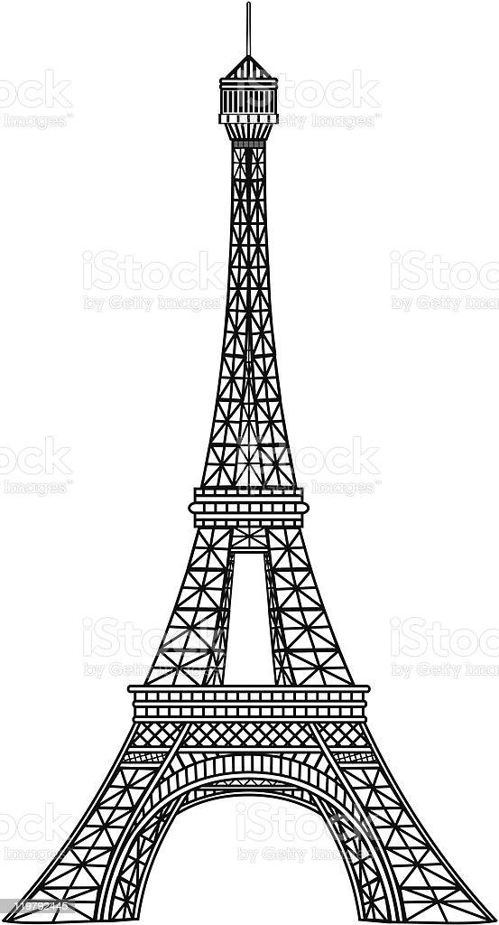 Eiffel tower illustration vector art illustration