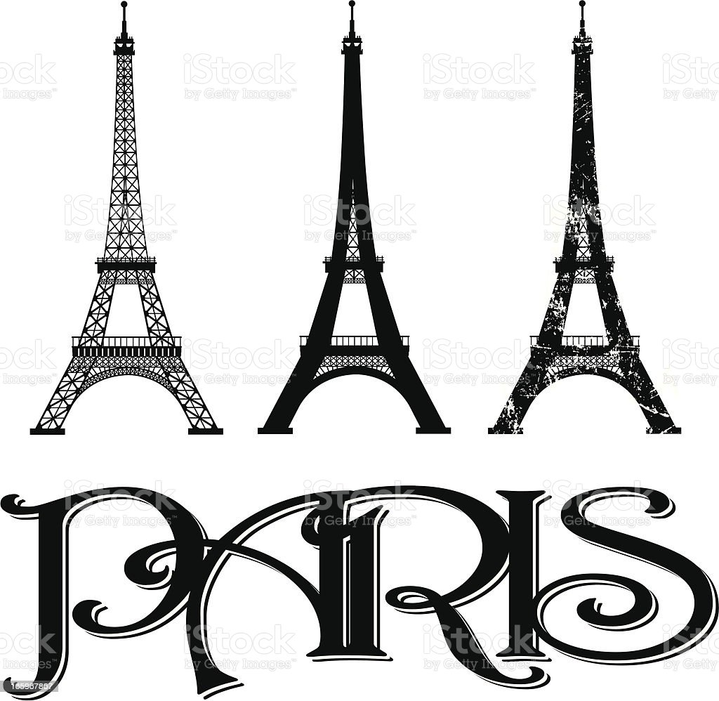 Eiffel Tower - Paris France vector art illustration
