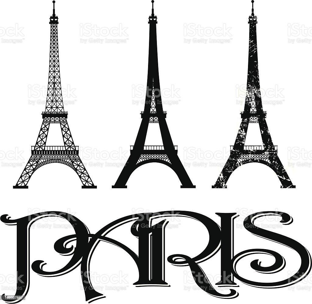 Eiffel Tower - Paris France vector art illustration