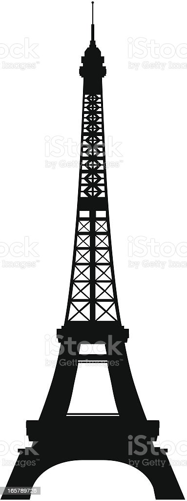 Eiffel Tower, Paris vector art illustration