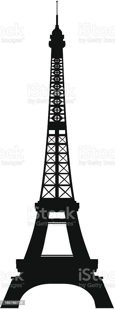 Eiffel Tower, Paris vector art illustration