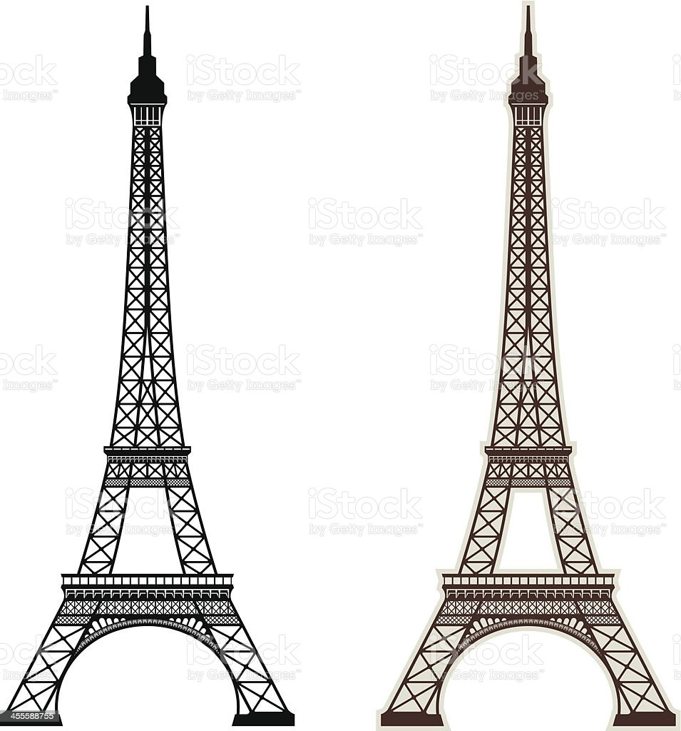 Eiffel Tower Paris vector art illustration