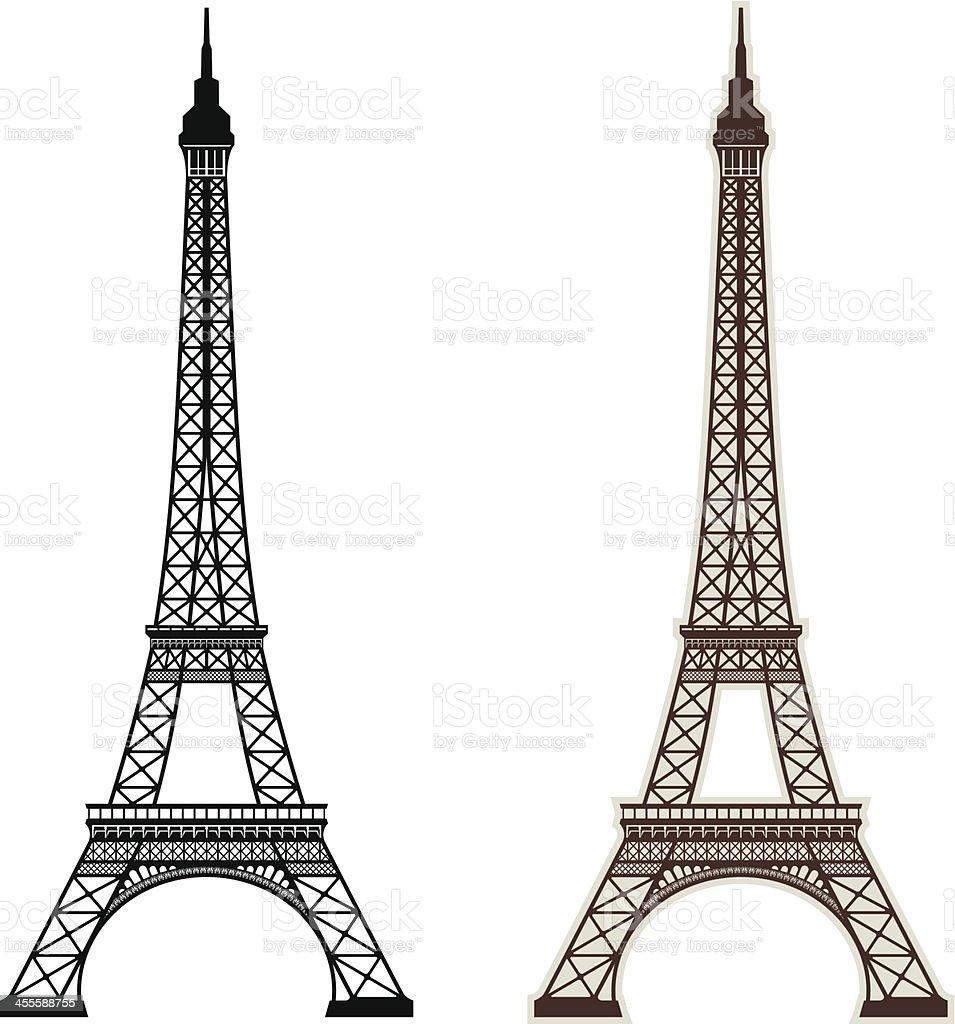 Eiffel Tower Paris vector art illustration