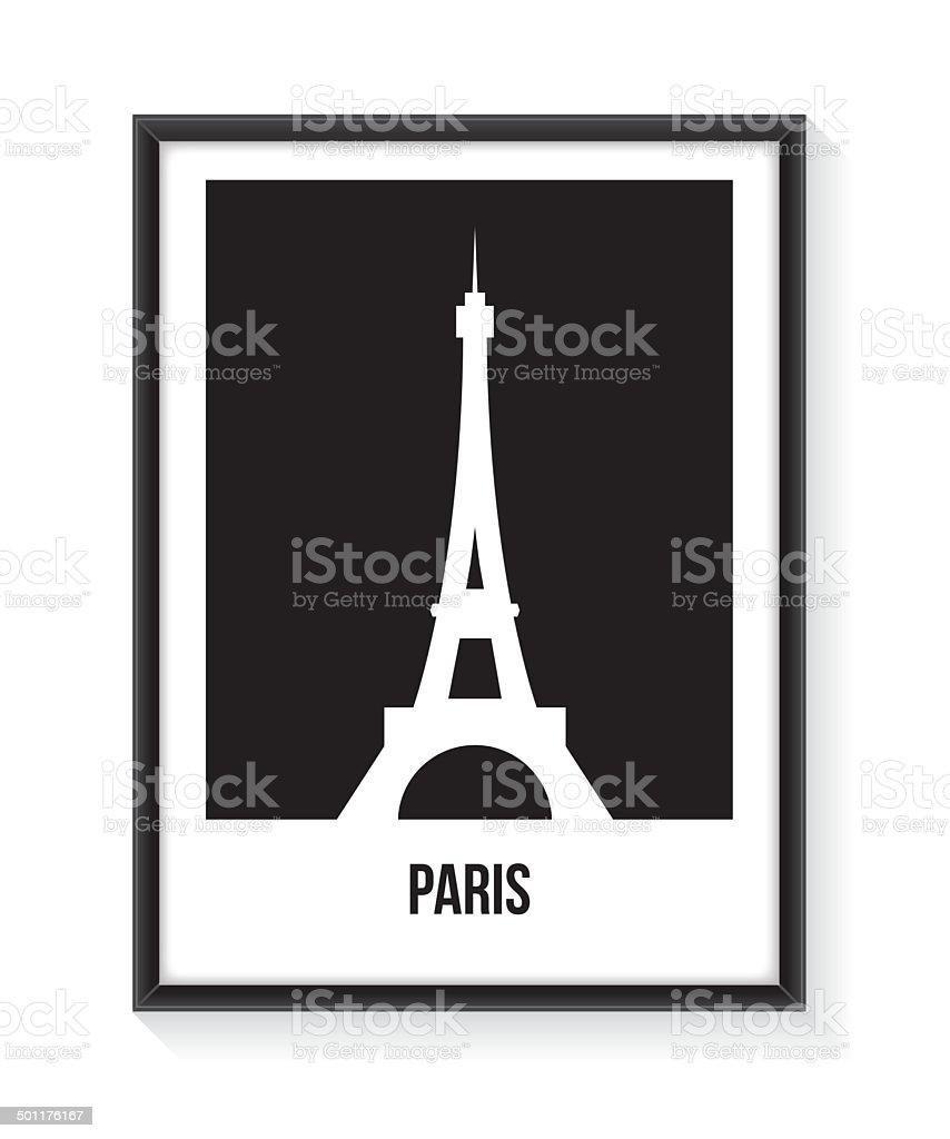Eiffel Tower Poster vector art illustration