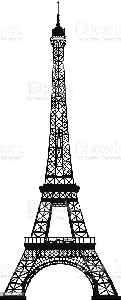 Eiffel Tower Silhouette vector art illustration