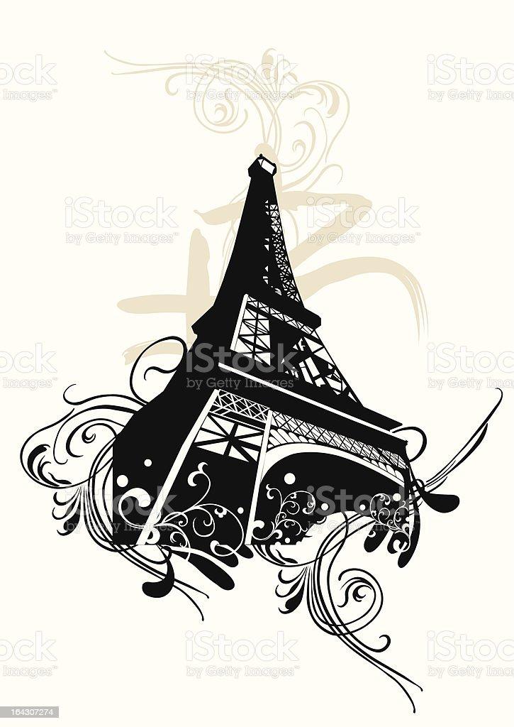 Eiffel Tower royalty-free stock vector art