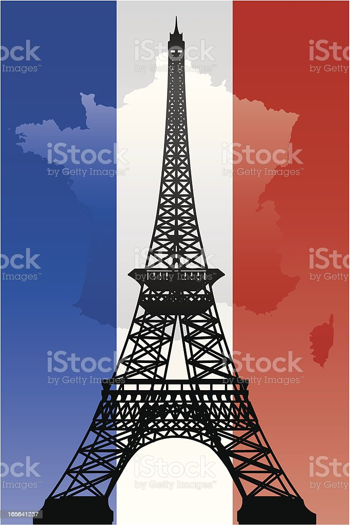 Eiffel Tower royalty-free stock vector art
