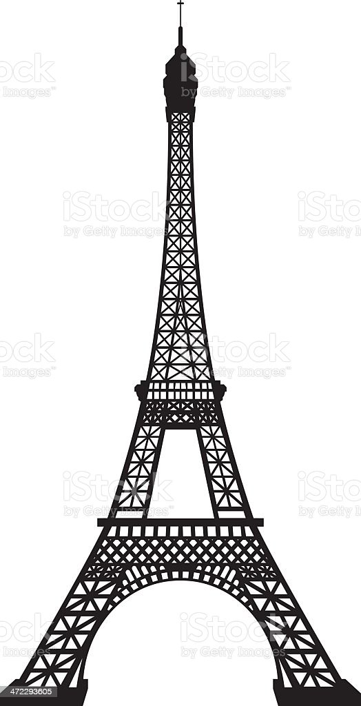 Eiffel Tower vector art illustration