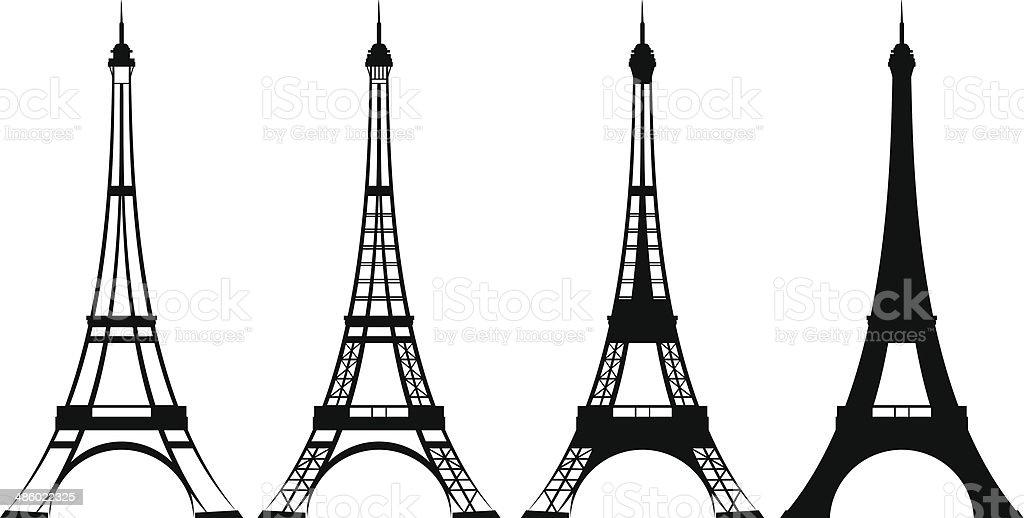 eiffel tower vector art illustration