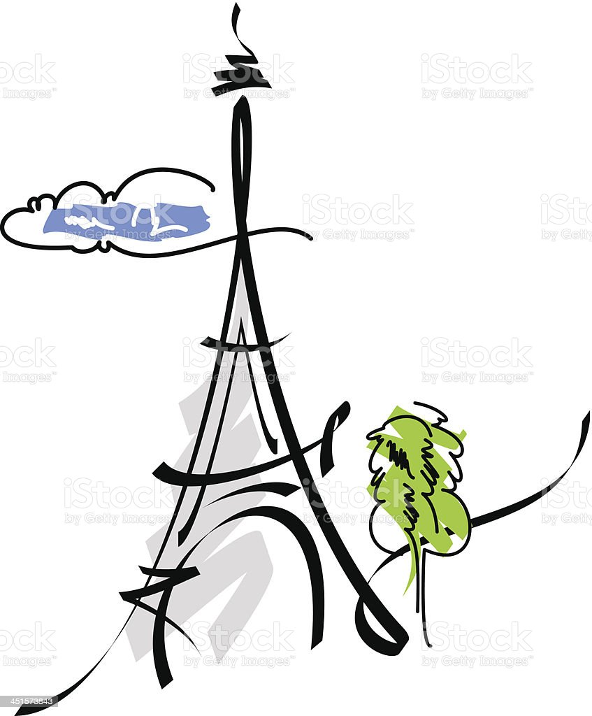 Eiffel Tower vector illustration royalty-free stock vector art