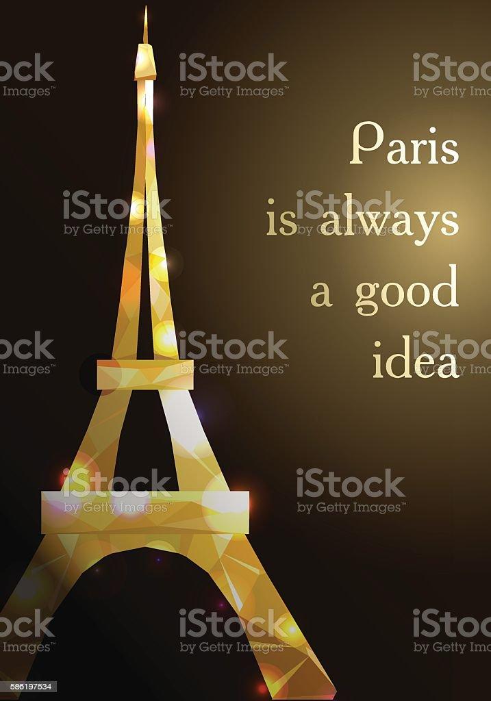 Eiffel tower vector illustration. vector art illustration