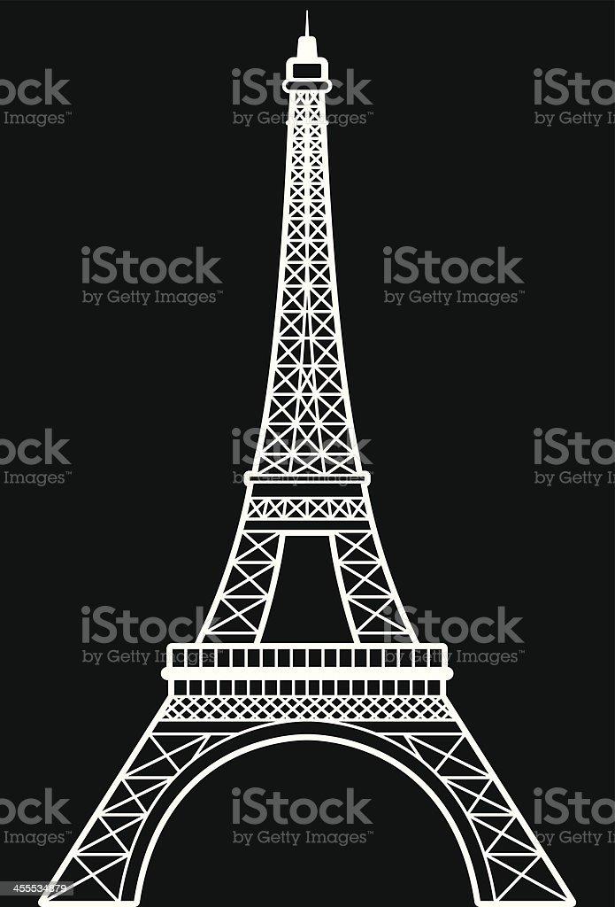 Eiffel Tower vector royalty-free stock vector art