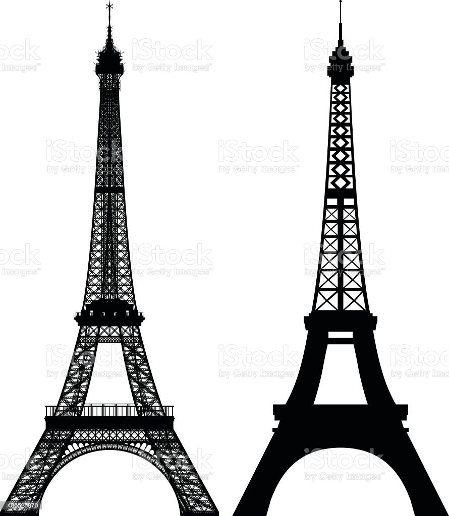 Eiffel Towers vector art illustration