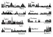 Eight cities of France