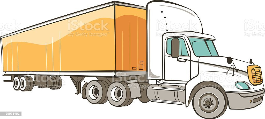 Eighteen Wheeler-Transfer Truck vector art illustration