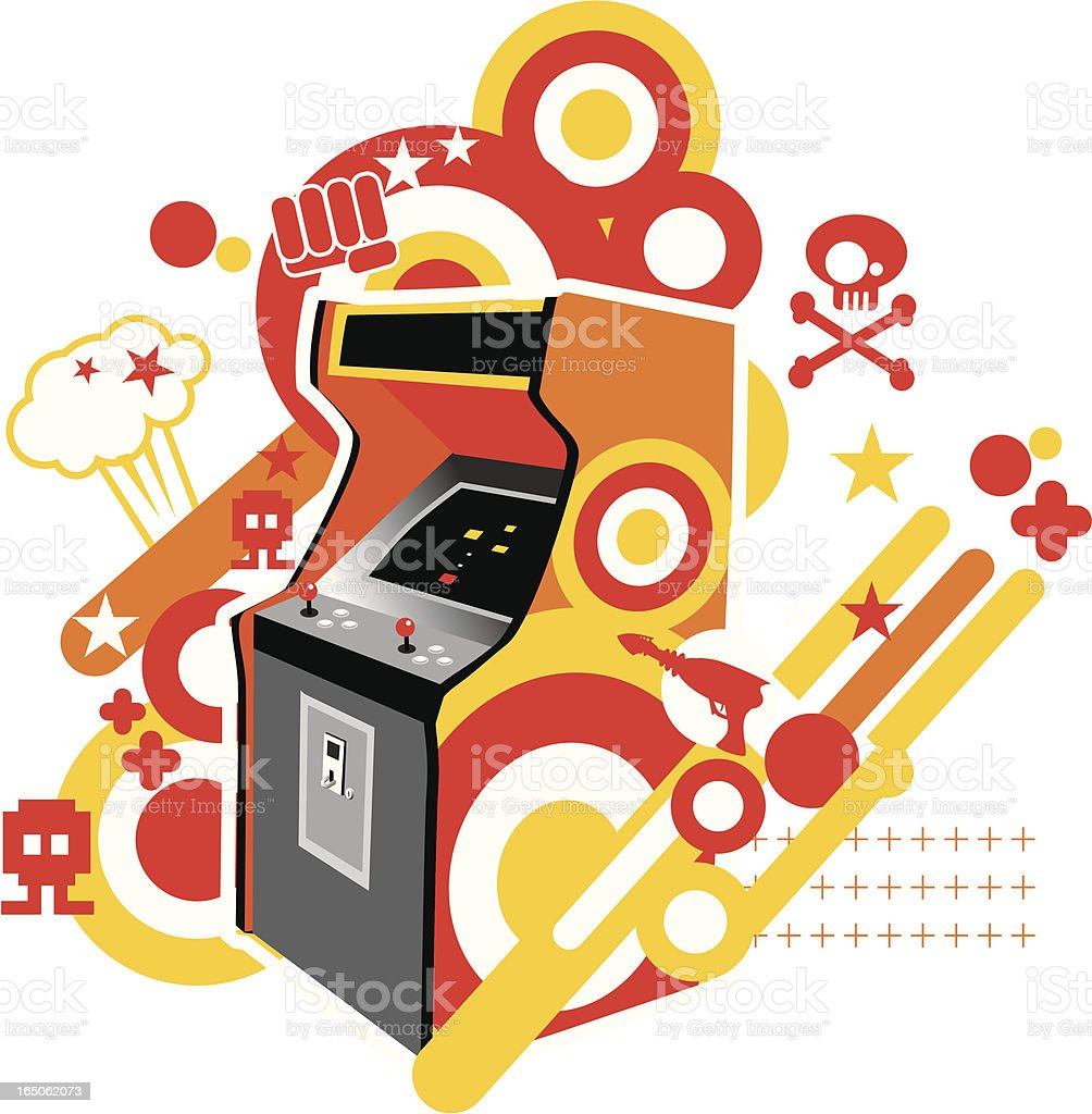 eighties video arcade royalty-free stock vector art