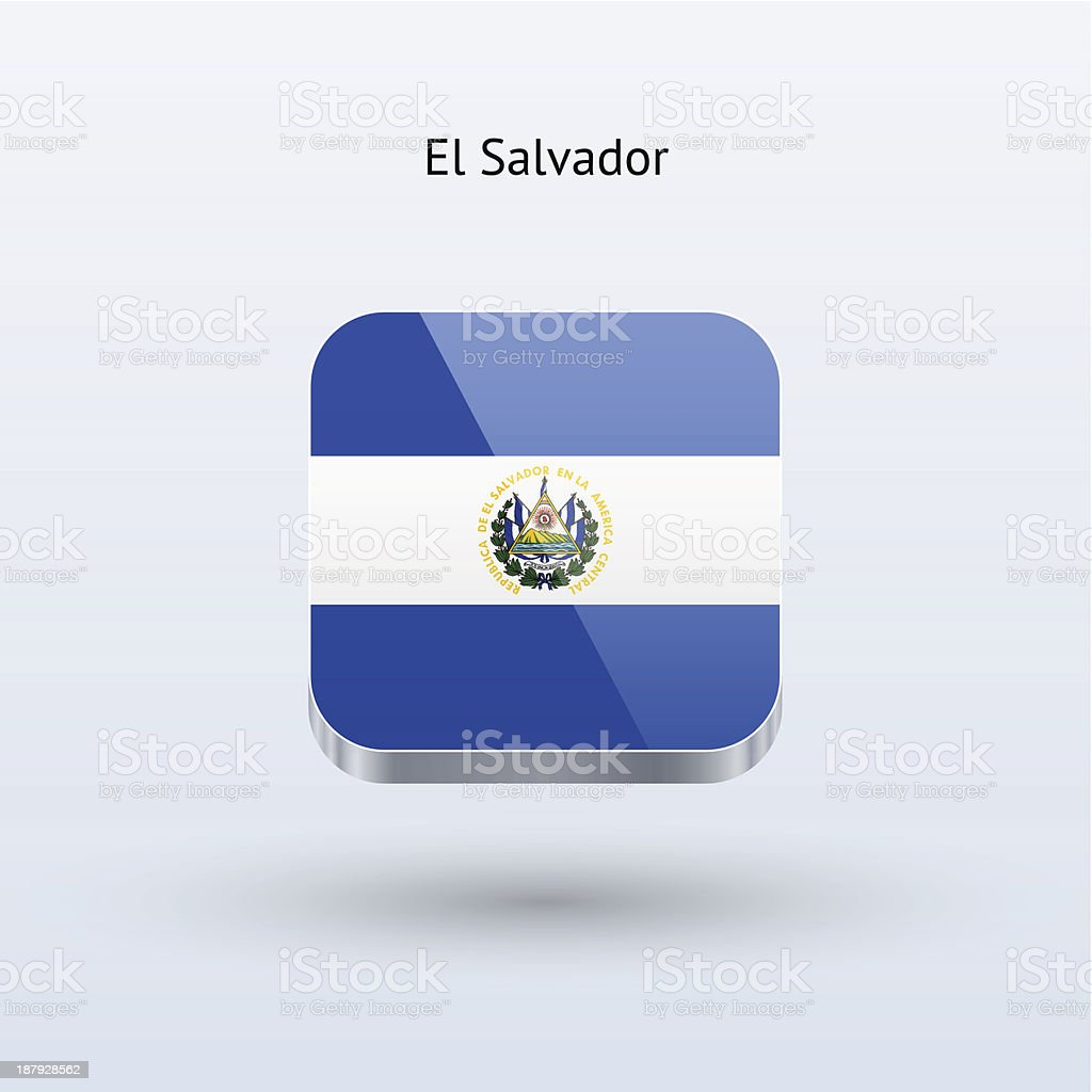 El Salvador Flag Icon royalty-free stock vector art