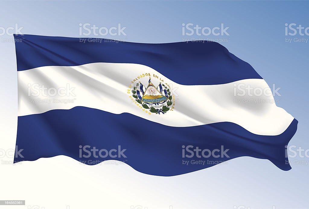 El Salvador Flag royalty-free stock vector art