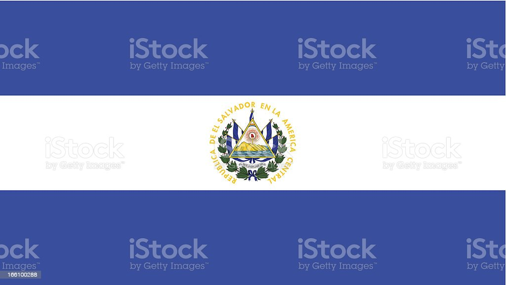 El Salvador Flag royalty-free stock vector art