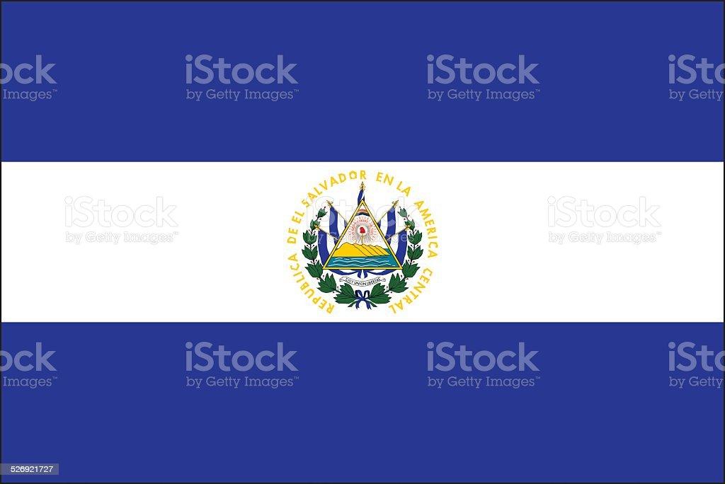 El Salvador flag vector art illustration
