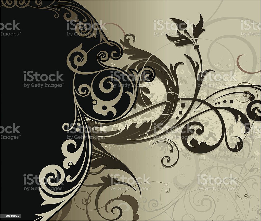 Elaborate Background Panel royalty-free stock vector art
