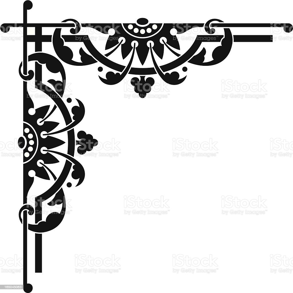 Line Art Corner Design : Elaborate english corner design stock vector art
