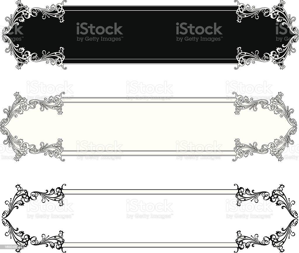 Elaborate Lettering Panels royalty-free stock vector art