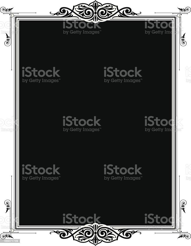 Elaborate Panel royalty-free stock vector art