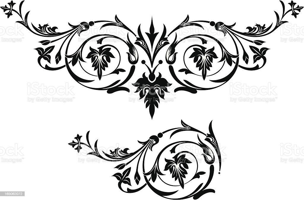 Elaborate Scroll Ornamentation royalty-free stock vector art