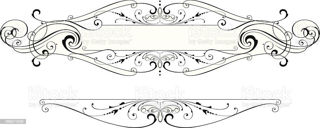 Elaborate Scroll Panel royalty-free stock vector art