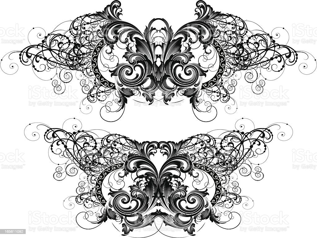 Elaborate Symmetry royalty-free stock vector art