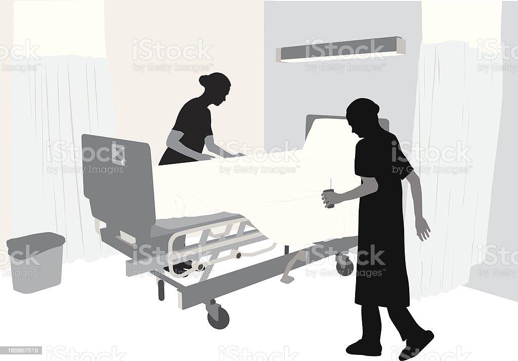 Elder Care Vector Silhouette royalty-free stock vector art