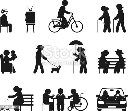 Elderly Leisure Activities stock vector art 510794020 | iStock