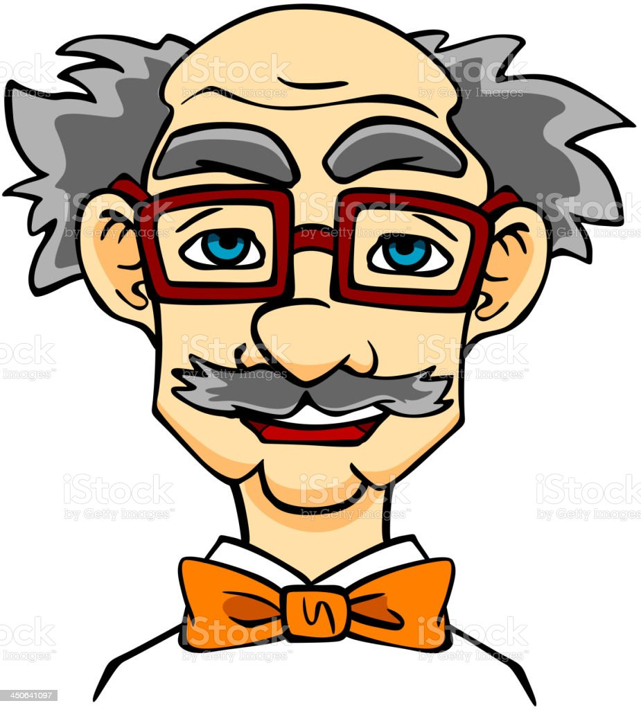 Elderly man in eyeglasses royalty-free stock vector art