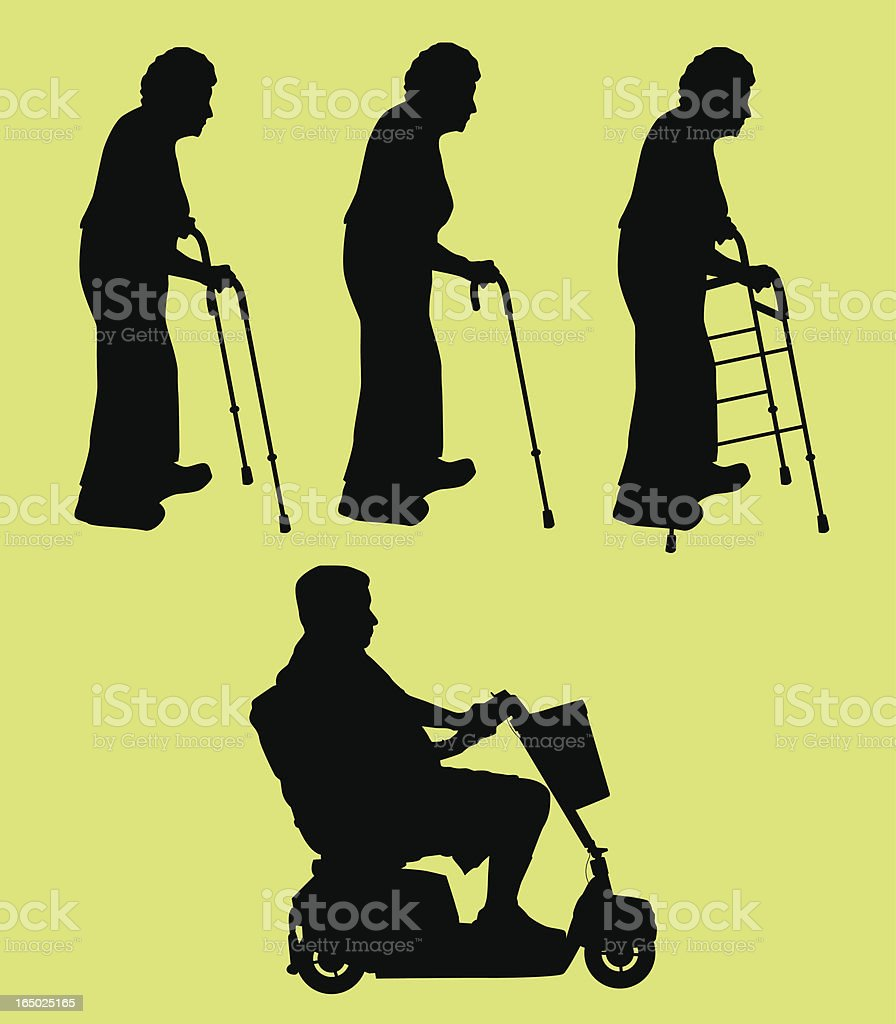 Elderly People ( Vector ) royalty-free stock vector art