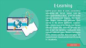 E-Learning Conceptual Banner