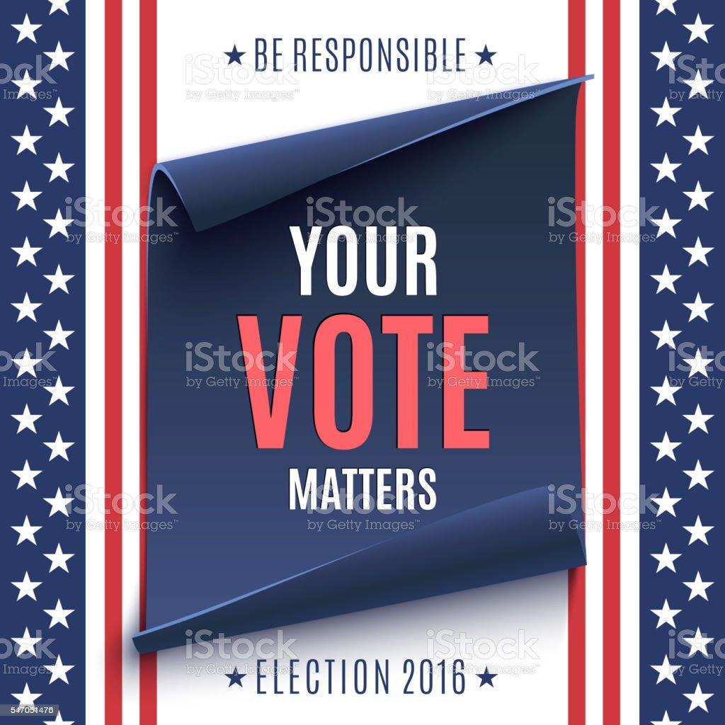 Election 2016 background. vector art illustration