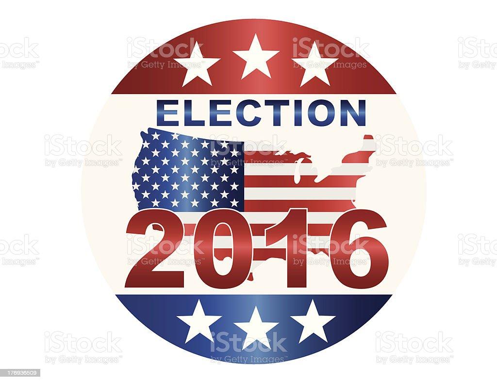 Election 2016 Button Illustration vector art illustration
