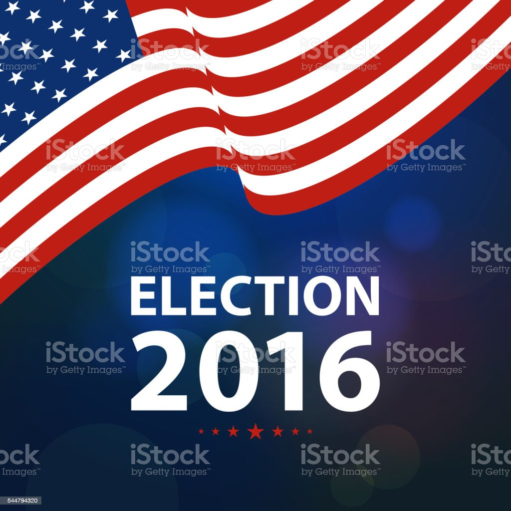 US Election 2016 vector art illustration