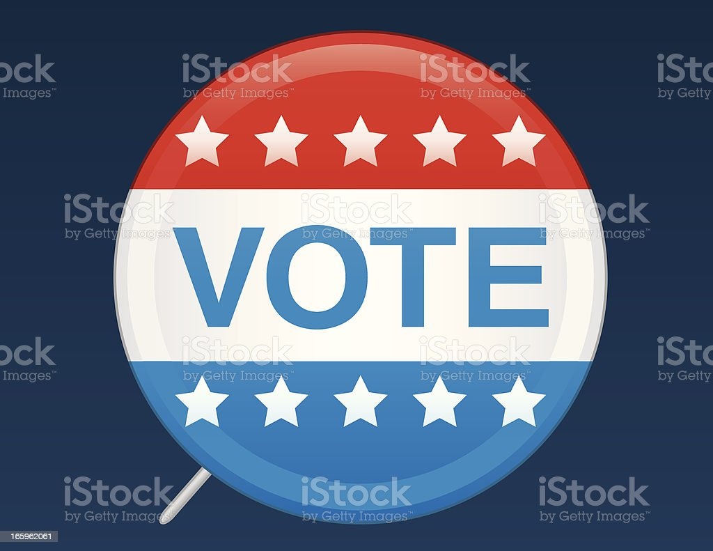 Election Badge vector art illustration