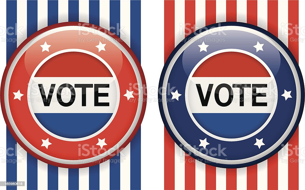 Election badges royalty-free stock vector art