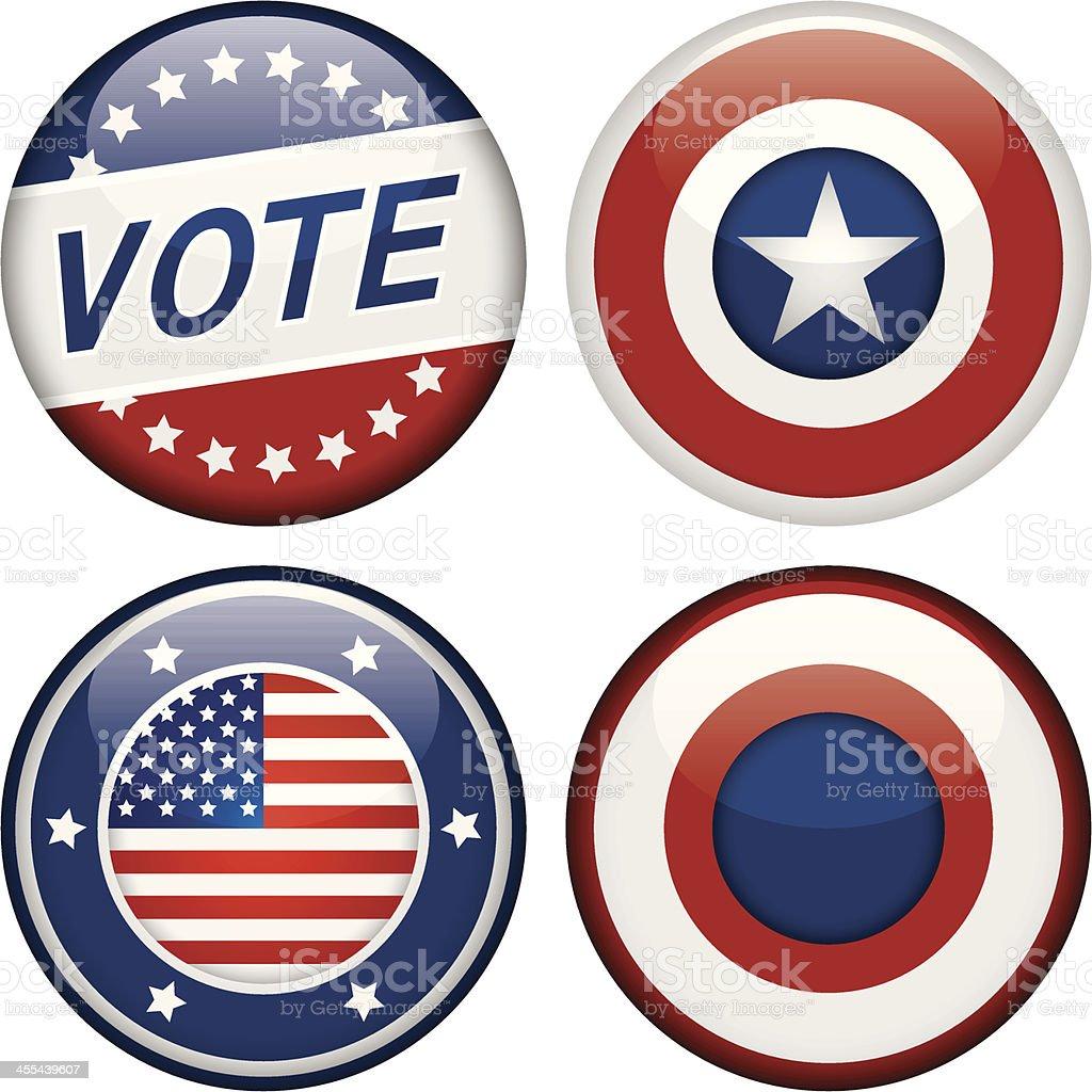 Election Badges vector art illustration