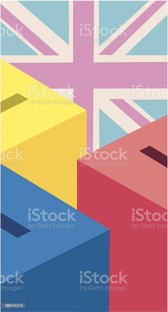 UK Election Ballot Boxes royalty-free stock vector art