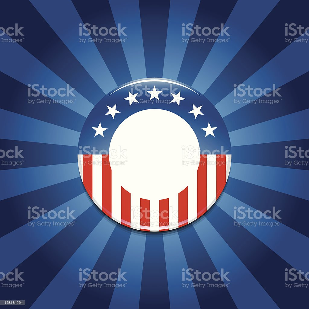 Election campaign button template background royalty-free stock vector art