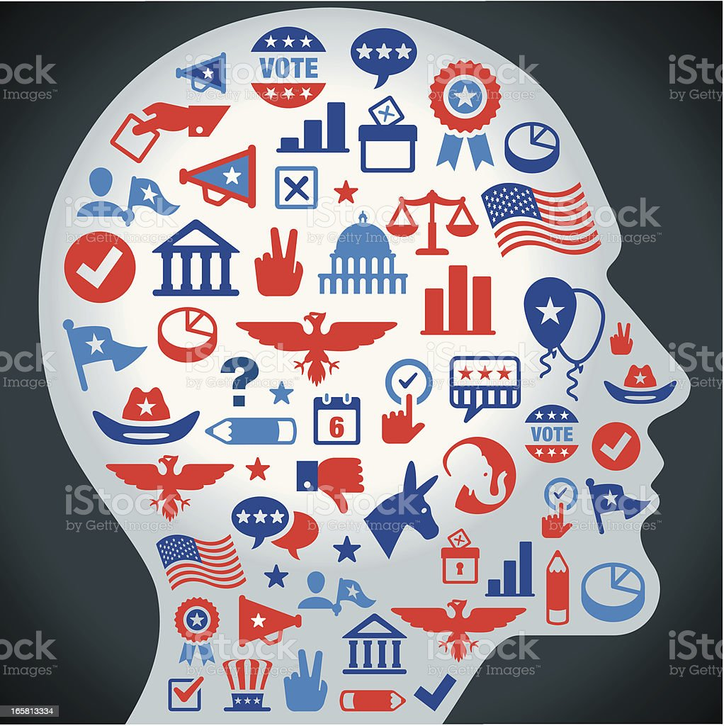 Election Concept Color royalty-free stock vector art