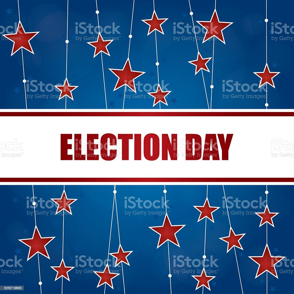 Election Day Background vector art illustration
