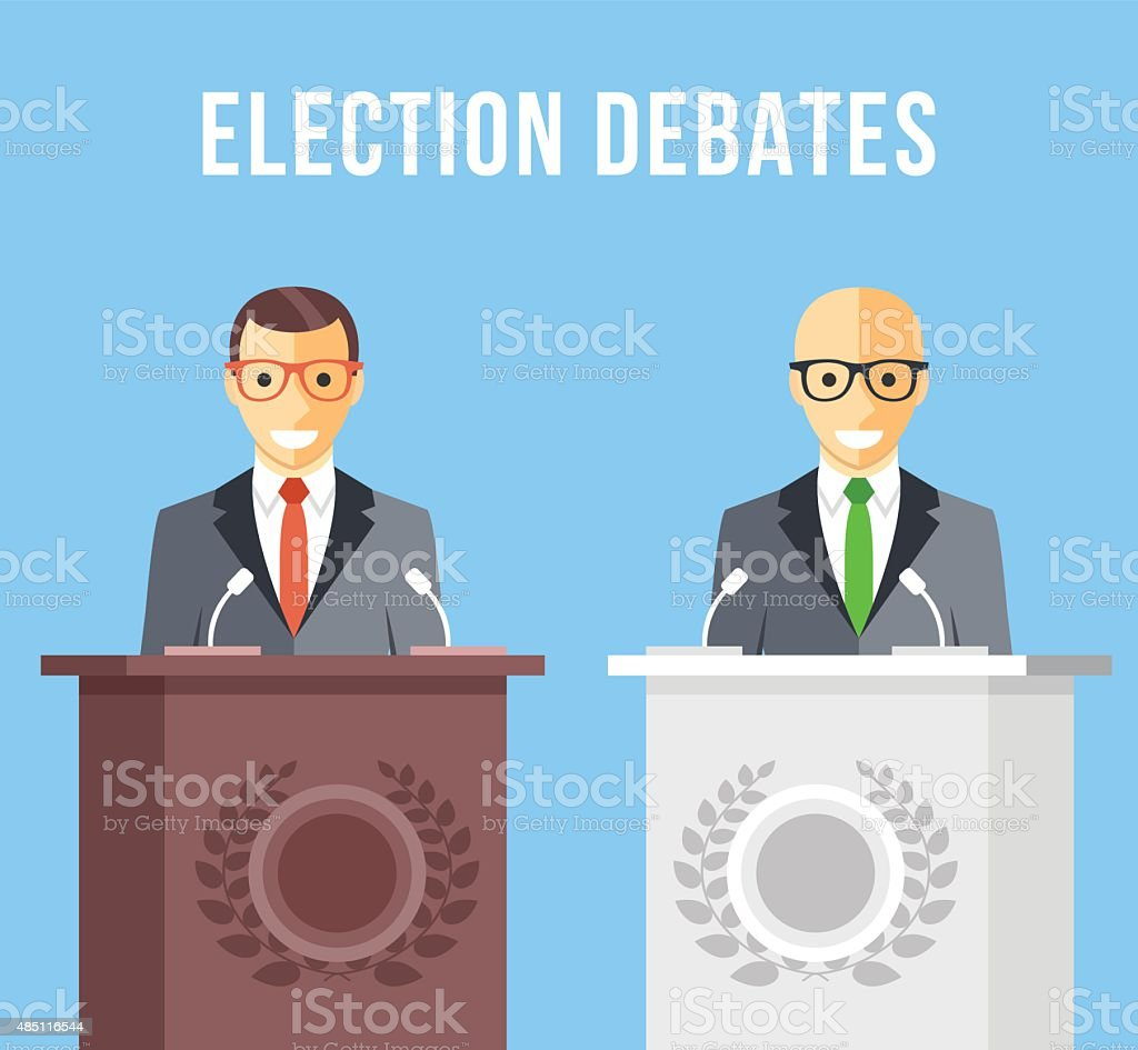 Election debates, dispute, social discussion flat illustration concepts vector art illustration