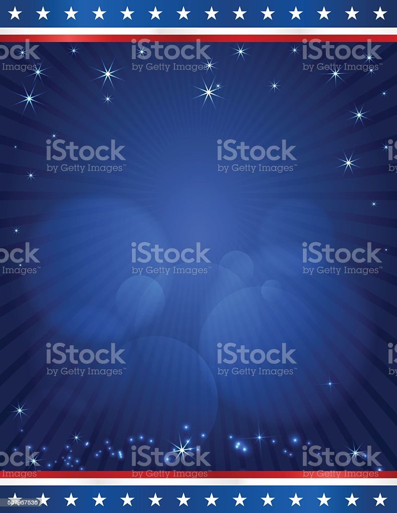 USA election design template on dark blue rays background vector art illustration