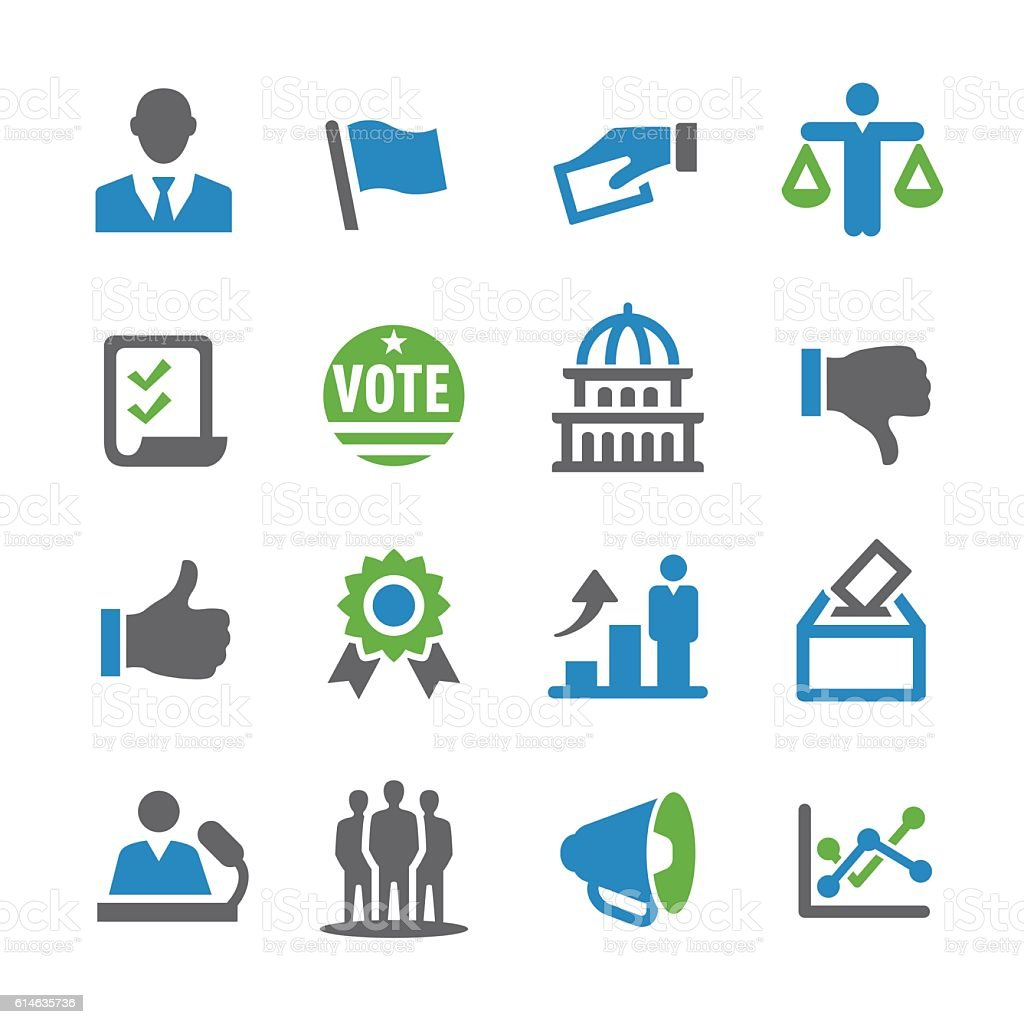 Election Icons - Spry Series vector art illustration